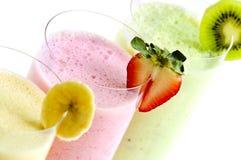 Sortierte Frucht Smoothies Lizenzfreies Stockbild