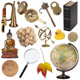 Sortierte Gegenstände - lokalisiert für Ausschnitt stockfotos