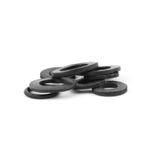 Sortierte Gummio-ringe, lokalisiert Lizenzfreies Stockbild