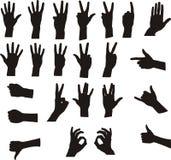 Sortierte Handsignale Stockfoto