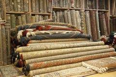 Sortierte indische Wolldecken Lizenzfreies Stockfoto