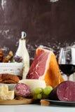 Sortierte italienische Nahrung Stockfotografie