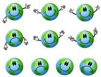 Sortierte Karikatur-Erde-Zeichen Stockfoto