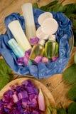 Sortierte Kosmetik stockbild