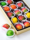 Sortierte Marzipan-Frucht Lizenzfreie Stockfotos