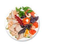 Sortierte Meeresfrüchte auf dem Tisch Lizenzfreie Stockfotografie