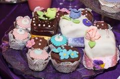 Sortierte Muffins Stockfotografie