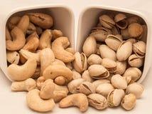 Sortierte nuts Pistazie, Acajoubaum Stockbild