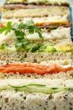 Sortierte Sandwiche Stockfoto