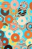 Sortierte Schaumgummiringe mit farbiger Glasur Stockbild