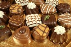 Sortierte Schokoladen stockfotografie