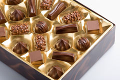 Sortierte Schokoladen Lizenzfreies Stockbild