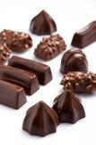 Sortierte Schokoladen Stockfotos