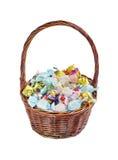 Sortierte Schokoladen in einem Korb Stockfoto