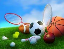Sortierte Sportausrüstung Stockbild