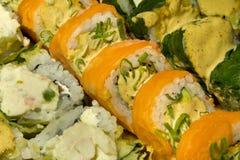 Sortierte Sushi Rolls Stockbild