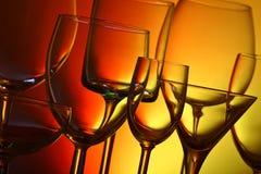 Sortierte trinkende Gläser stockbilder