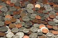 Sortierte US-Münzen Stockfoto