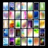Sortierte vertikale Visitenkarte-Hintergründe Stockfotos