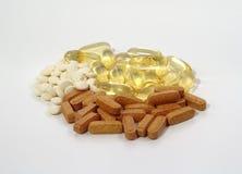 Sortierte Vitamine Stockfoto