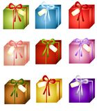 Sortierte Weihnachtsgeschenke lizenzfreie abbildung