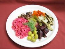 Sortiertes in Essig eingelegtes Gemüse Lizenzfreies Stockbild