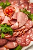 Sortiertes Feinkostgeschäft-kaltes Fleisch Lizenzfreie Stockbilder