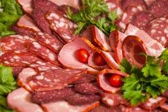 Sortiertes Feinkostgeschäft-kaltes Fleisch Lizenzfreie Stockfotos