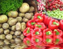 Sortiertes Gemüse und Früchte Stockbild
