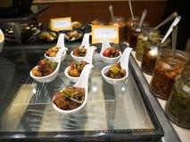 Sortiertes indisches Lebensmittel stockfoto