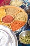 Sortierung der indischen masala Gewürze Lizenzfreies Stockfoto