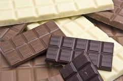 Sortierungen der Schokolade Stockfotos