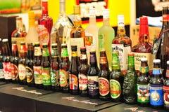 Sortierungen des alkoholischen Getränks Lizenzfreies Stockbild