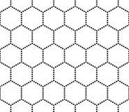 Sortilège sans couture moderne de modèle de la géométrie de vecteur, résumé noir et blanc Photo stock
