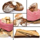 Sortiment av brödcollage Royaltyfri Fotografi