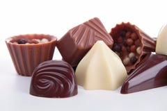 Sortiment av choklader Royaltyfria Bilder