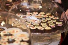 Sortiment av choklader Arkivfoton