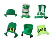 Sortiment av daghattar för St Patricks Royaltyfri Bild