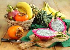 Sortiment av exotiska frukter Royaltyfri Fotografi