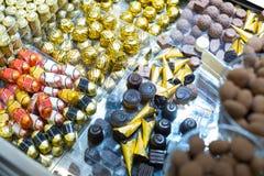 Sortiment av fina choklader Fotografering för Bildbyråer