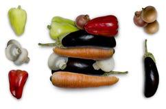 Sortiment av hösten av produkter som används i lunch Royaltyfri Bild