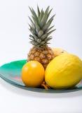 Sortiment av nya exotiska frukter Fotografering för Bildbyråer