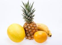 Sortiment av nya exotiska frukter Royaltyfri Bild