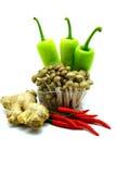 Sortiment av nya grönsaker på vit bakgrund Arkivbilder