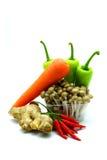 Sortiment av nya grönsaker på vit bakgrund Arkivbild