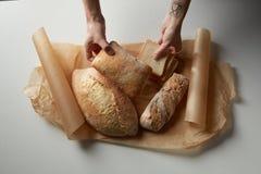 Sortiment av olika typer av bröd Arkivbild