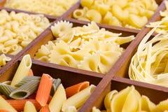 Sortiment av pasta Royaltyfria Bilder