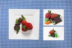 Sortiment av sötsaker Arkivfoto