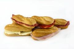 Sortiment av smörgåsar royaltyfri bild