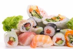 Sortiment av sushi Arkivbilder